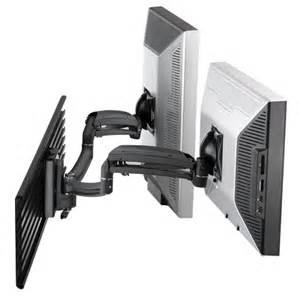 Dual Lcd Monitor Wall Mount K1s200s Kontour Dynamic Slat Wall Mount Dual Monitor