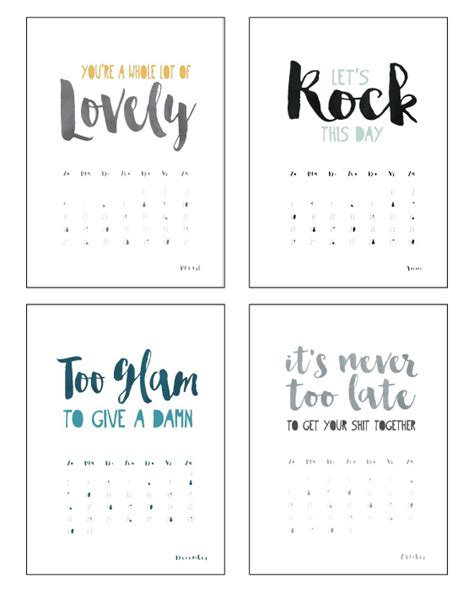 Calendar 2018 Quote Kalender Quotes 2018 Zelf Je Kalender Maken