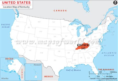 kentucky state in usa map where is kentucky located location map of kentucky