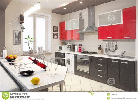 Modern Kitchen Interior Modern Kitchen Interior Royalty Free Stock Image Image 13183106