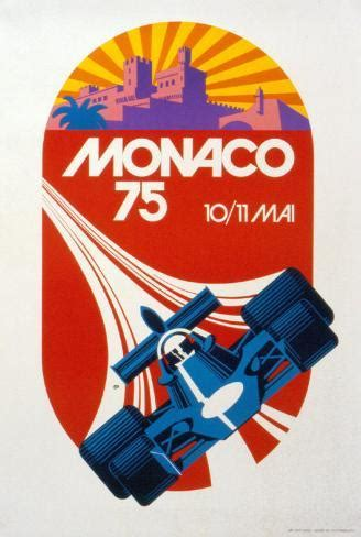monaco grand prix, 1975 print