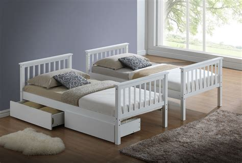 buy beds online white bunk bed or white three sleeper drawers only