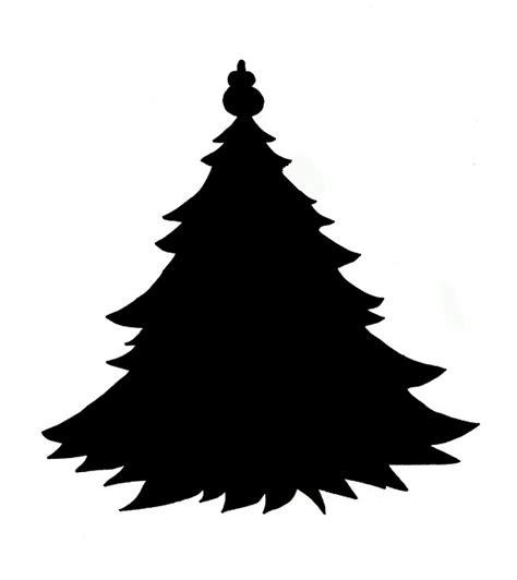 xmas tree silhouette cliparts co