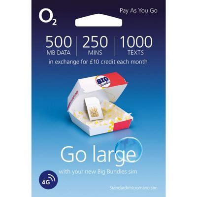 tesco mobile data bundle buy o2 4g 163 10 big bundle pay as you go sim card from our