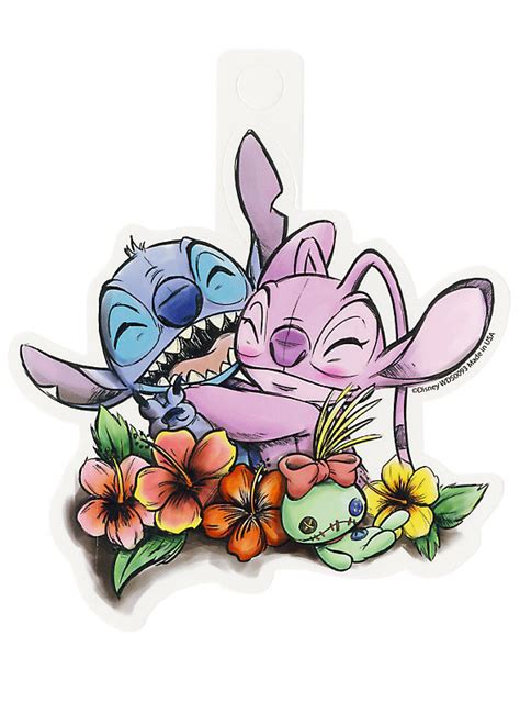angel design contest lilo and stitch disney lilo stitch angel hug sticker hot topic