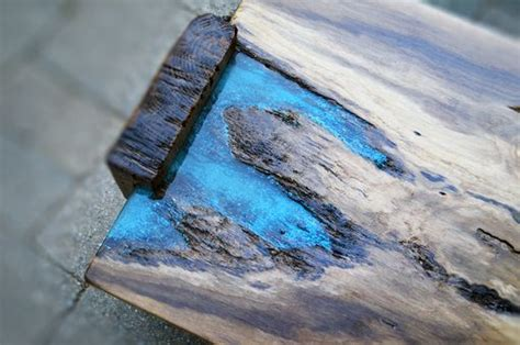 live edge table with turquoise inlay custom live edge rustic oak with turquoise inlay coffee