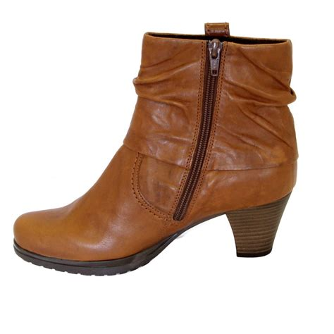 womens leather ankle boots gabor boots brignall womens ankle boot in copper leather