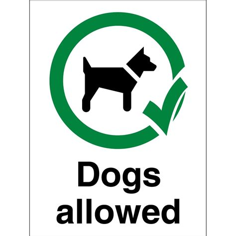 signs of in dogs dogs allowed signs from key signs uk