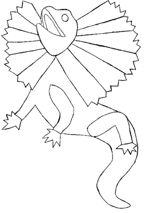 frilled lizard coloring pages free coloring pages of frilled neck lizard