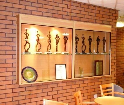 wall mounted trophy cabinets ajl custom made wall display cabinets trophy cabinets and