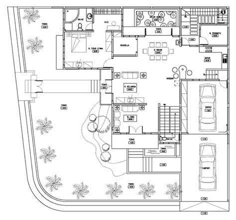 contoh gambar denah rumah besar 1 lantai desain rumah sederhana interior minimalis rumah