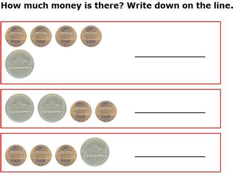 kindergarten activities on money 7 best images of free printable money math worksheets