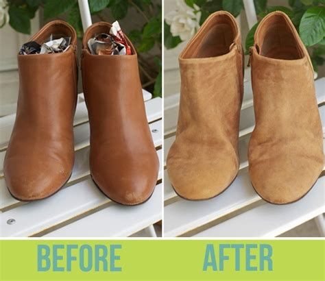 diy suede shoes how to turn scuffed leather into suede diy