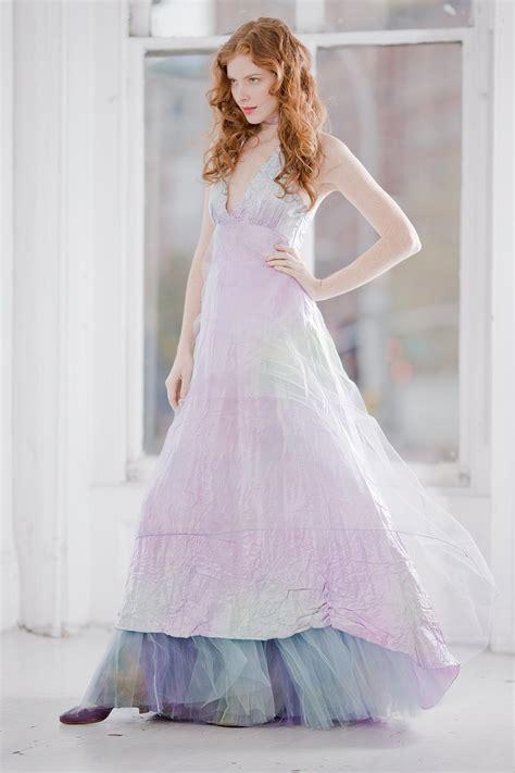 Pastel Dress2 ombre pastel wedding dress onewed