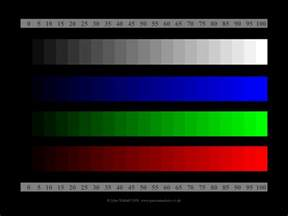 color adjustment test cards for monitor adjustment panoramashots
