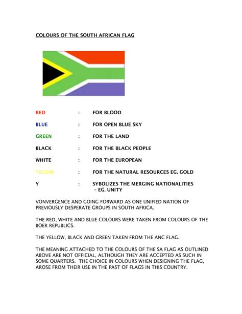 what are the colors of the south flag the republic of south africa south naval yeomanry