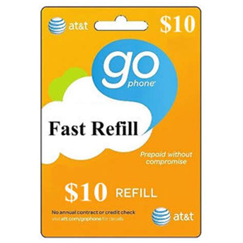 Att Gift Card - at t gophone 10 refill fastest refill card credit applied directly to phone