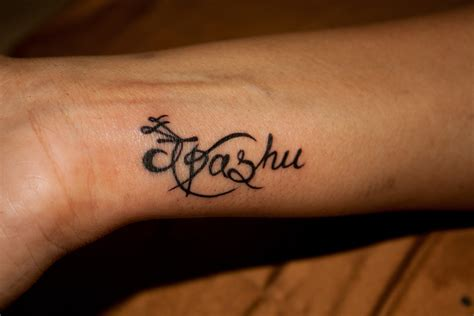 tattoo fonts yash name calligraphy wrist tattoos design ideas