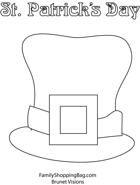 leprechaun hat coloring page leprechaun hat coloring page