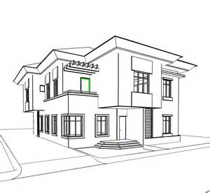 skizze haus modern house sketch drawing sketch coloring page