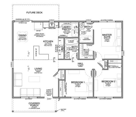 Single Family Floor Plan For Habitat For Humanity Habitat For Humanity House Plans