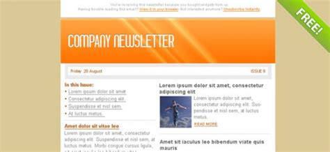 email marketing newsletter templates orange email marketing newsletter template psd file free