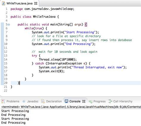 patterns in java using while loop java while loop journaldev