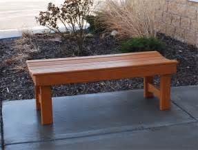 Patio Bench Backless Recycled Plastic Garden Bench