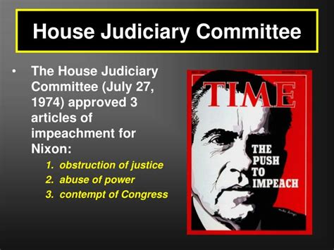 house judiciary committee ppt the watergate scandal powerpoint presentation id 6430885