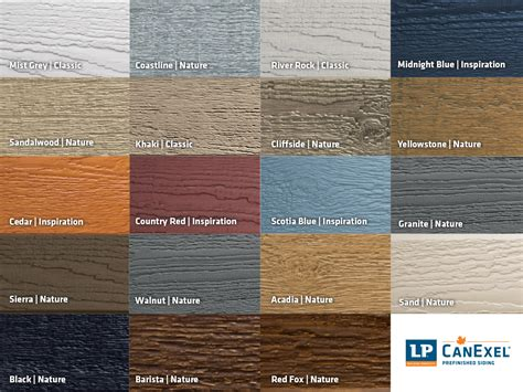 lp siding colors didyouknow lp canexel is prefinished in 19 colours by