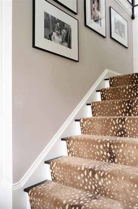 cheetah print stair carpet design ideas