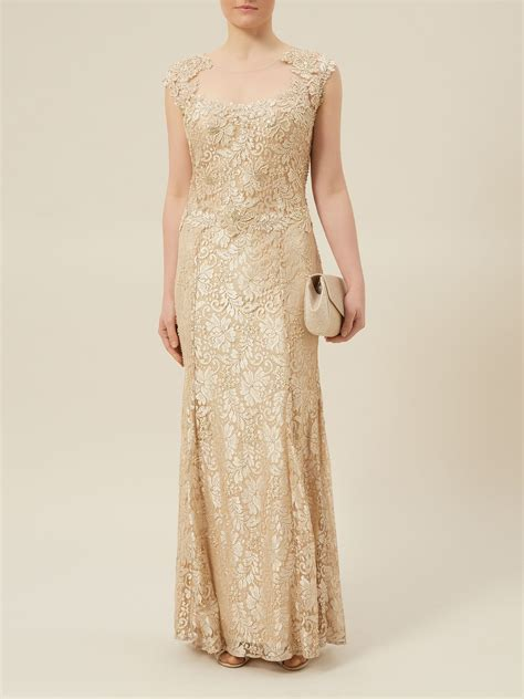 gold beaded dress jacques vert lace beaded evening dress in gold neutral