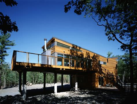 retreat houses prefab mountain retreat by resolution 4 architecture