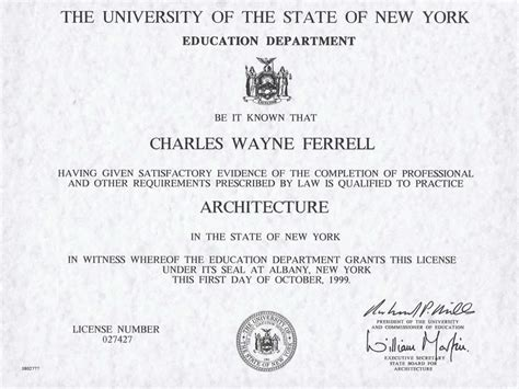 license nyc architecture license nyc