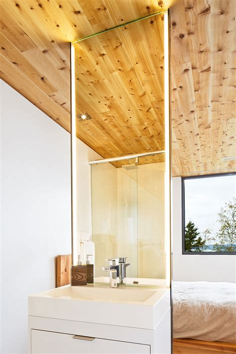 bathroom wood ceiling ideas expansive quebec residence charms with inviting warmth of wood
