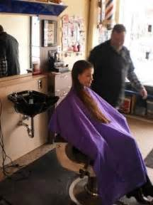 females in pvc getting haircuts peignoir mauve capes pinterest mauve and shorts