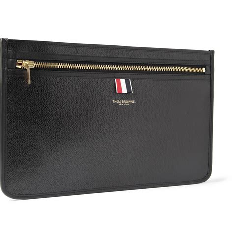 Document Bag Polo Team 8262 Black thom browne pebble grain leather document holder in black for lyst