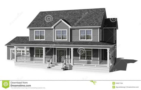 two storied house two story house gray stock photo image of story