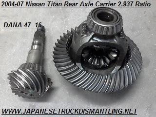 Nissan Titan Rear Differential Nissan Titan Rear Carrier Ring And Pinion 2 937 Ratio