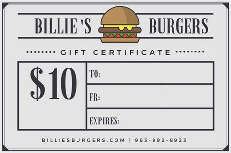 Restaurant Gift Card Template Free by Burger Newspaper Style Restaurant Gift Certificate