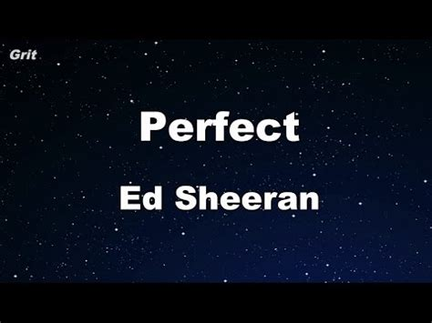 ed sheeran perfect official instrumental perfect ed sheeran karaoke no guide melody