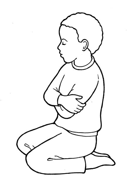 child praying coloring pages coloring pages for free