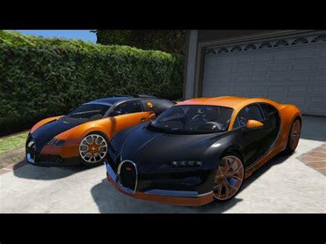 gta v | bugatti chiron vs. bugatti veyron | gta 5 mod