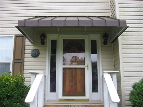 Front Door Awnings by Residential Metal Awnings