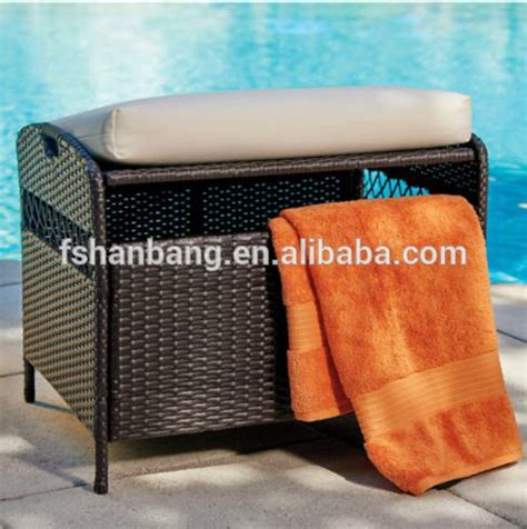 patio pillow storage waterpoof outdoor patio garden wicker rattan pillow cushion deck storage pack box buy