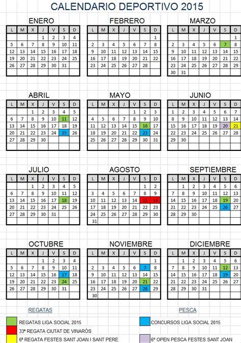 Calendario Deportivo 2015 Calendario Deportivo 2015 Club Nautic Vinar 242 S
