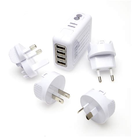 Adaptor 4 Pot Usb korjo 4 port usb travel adaptor bunnings warehouse