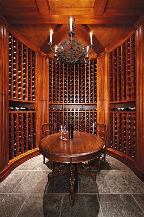 stained wood wine cellar luxury wine cellar
