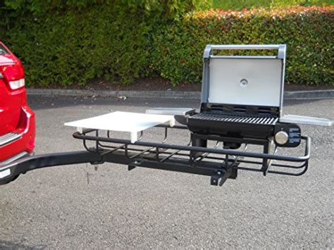 tailgating grill hitch mounted stowaway hitch mount grill for tailgating and grilling