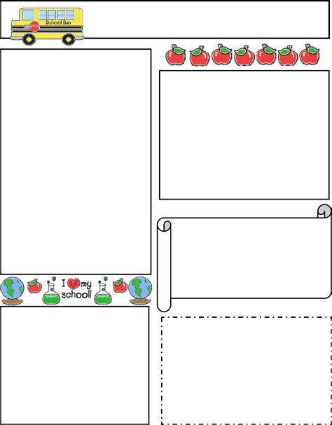 printable board templates for teachers classroom newsletter template 1 for free tidyform